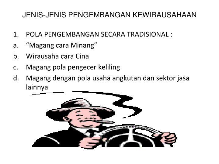 JENIS-JENIS PENGEMBANGAN KEWIRAUSAHAAN