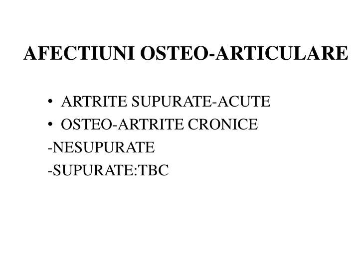 AFECTIUNI OSTEO-ARTICULARE