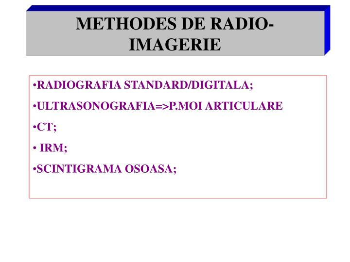 Methodes de radio imagerie