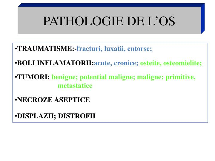 PATHOLOGIE DE L