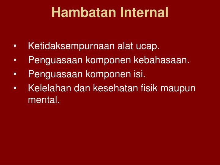 Hambatan Internal