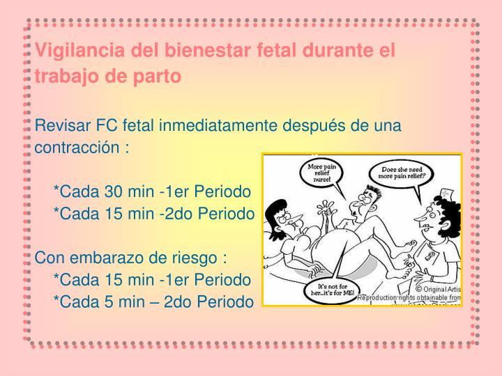 Vigilancia del bienestar fetal durante el