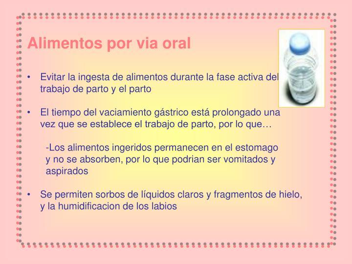 Alimentos por via oral