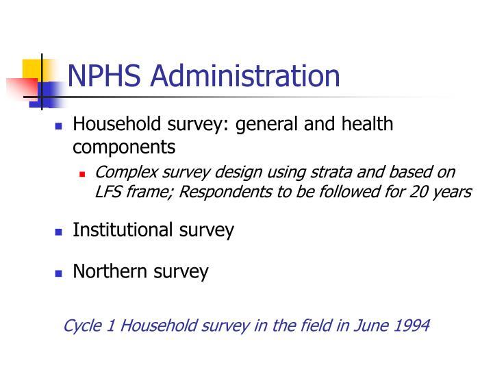 NPHS Administration
