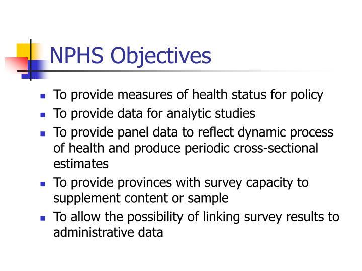 NPHS Objectives
