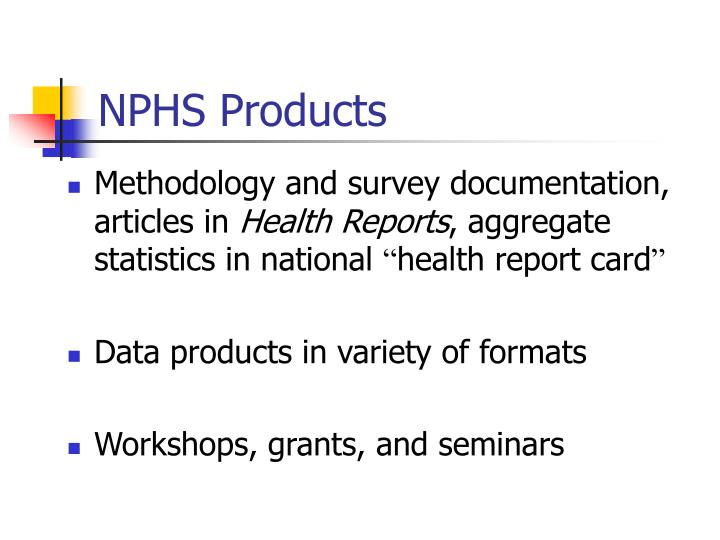 NPHS Products