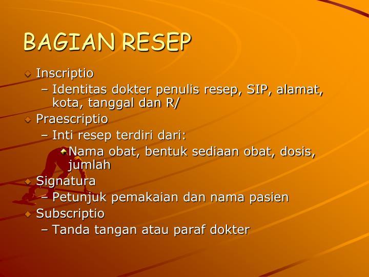 BAGIAN RESEP