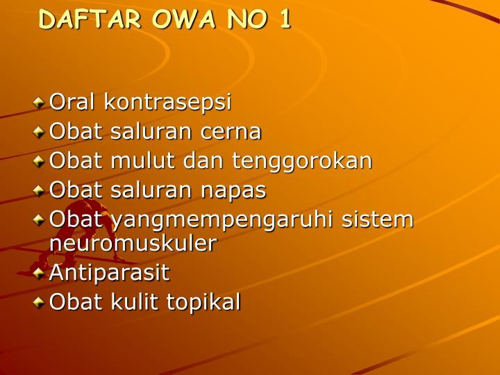 DAFTAR OWA NO 1