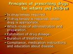 principles of prescribing drugs for infants and children