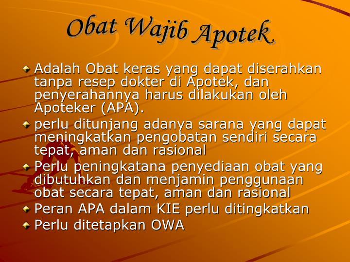 Obat Wajib Apotek