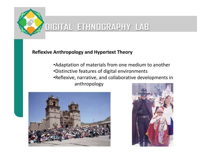 Reflexive Anthropology and Hypertext Theory