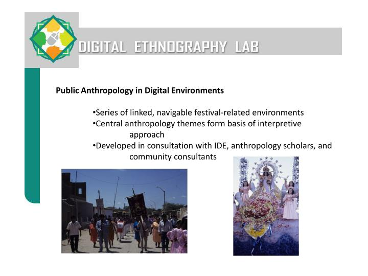 Public Anthropology in Digital Environments