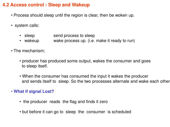 4.2 Access control - Sleep and Wakeup