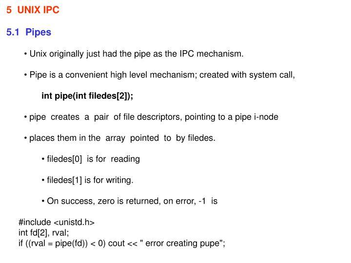 5  UNIX IPC
