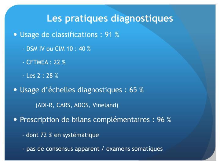 Les pratiques diagnostiques