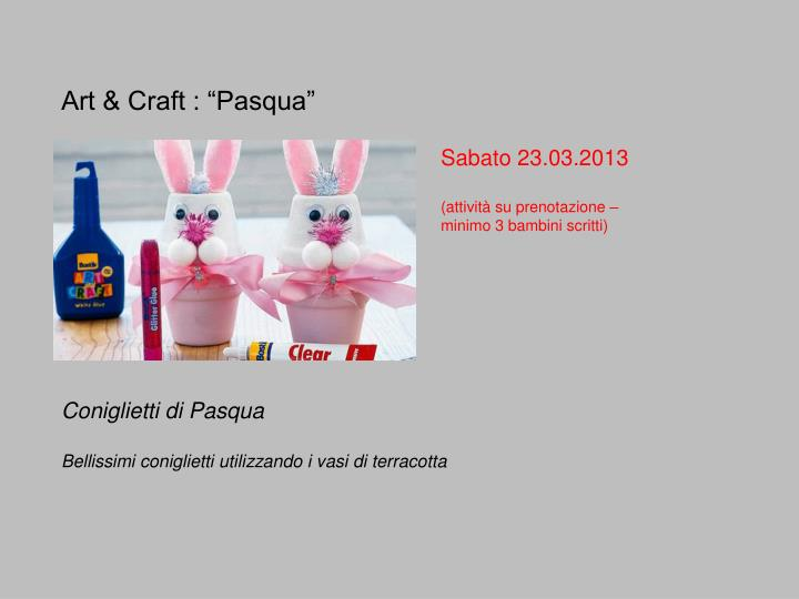 "Art & Craft : ""Pasqua"""