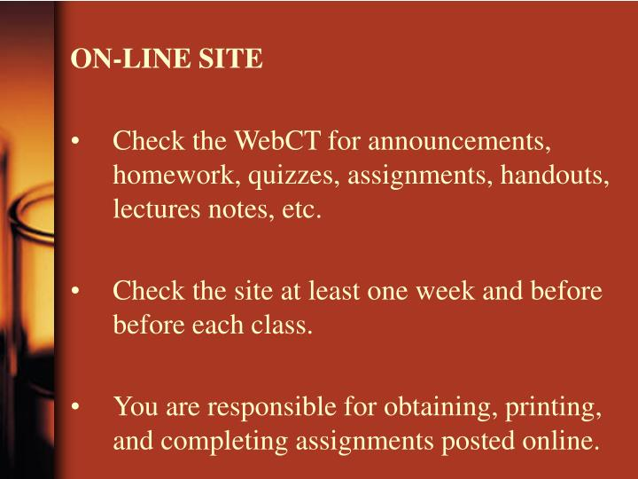 ON-LINE SITE