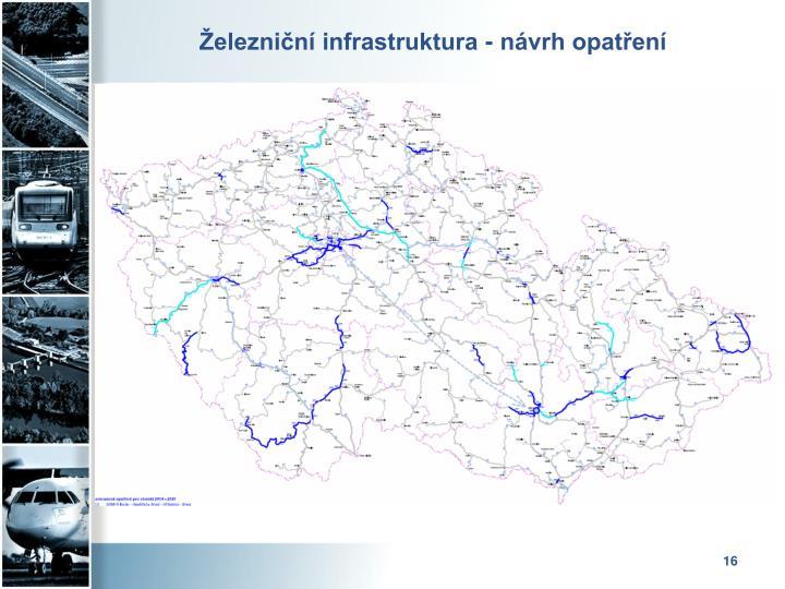Železniční infrastruktura - návrh opatření