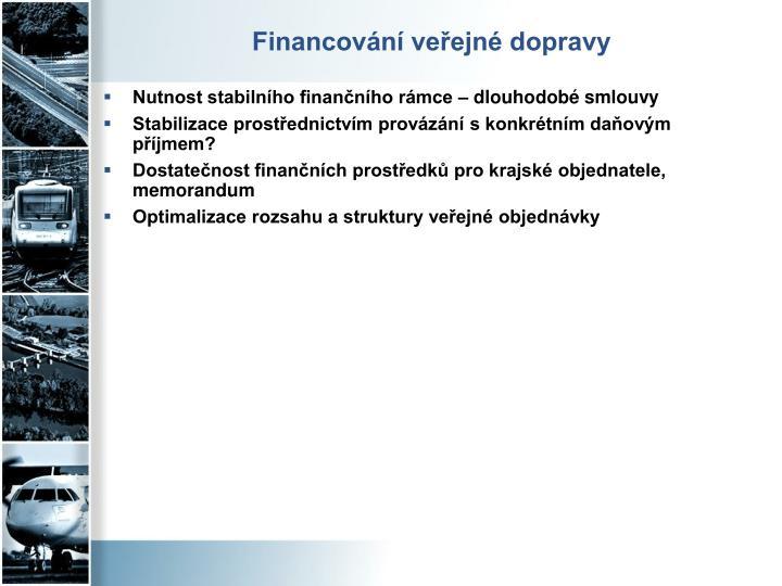 Financování veřejné dopravy