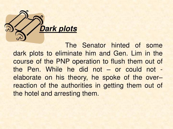 Dark plots