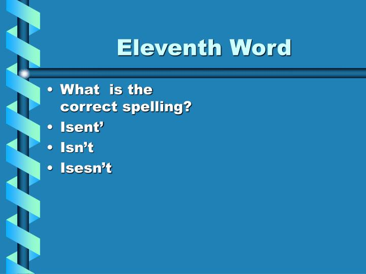Eleventh Word