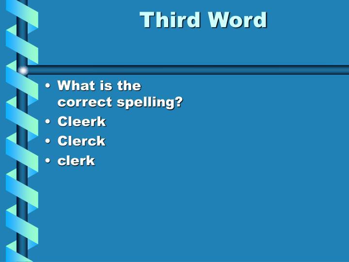 Third Word