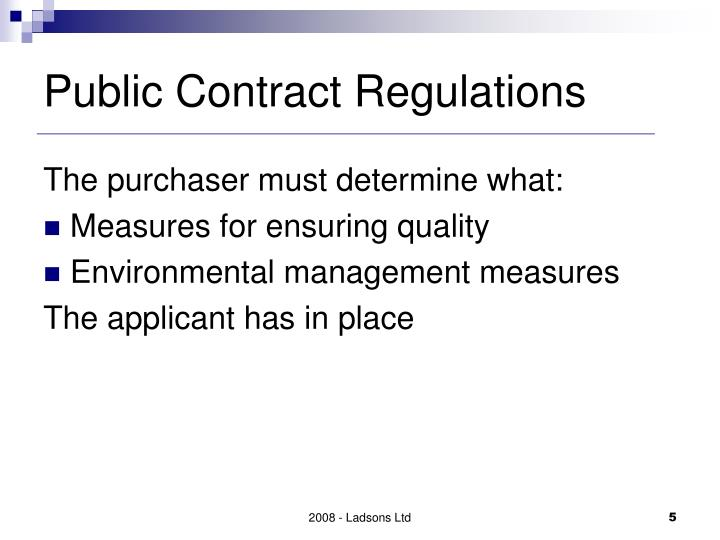 Public Contract Regulations