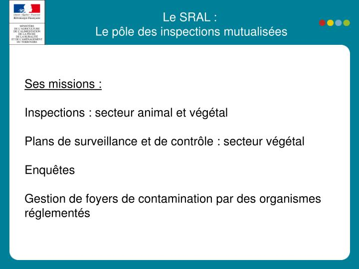 Le SRAL :