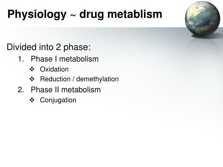 Physiology ~ drug metablism