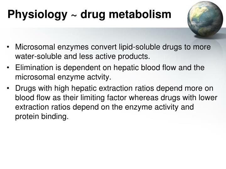 Physiology ~ drug metabolism