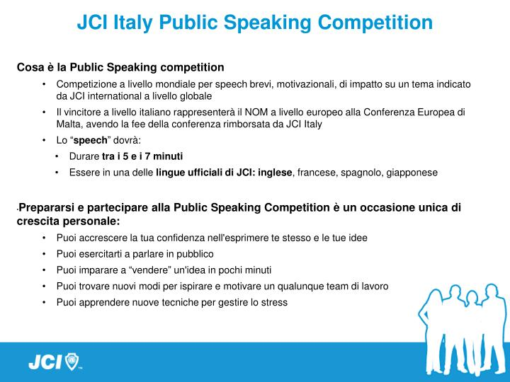 JCI Italy Public Speaking Competition