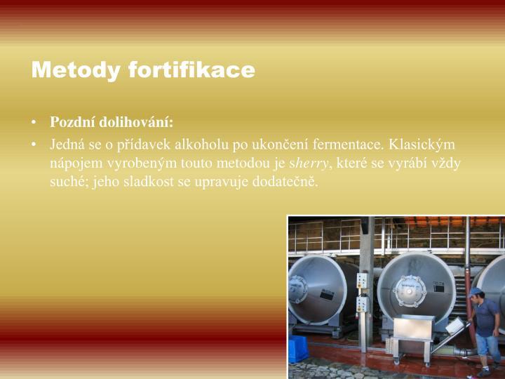 Metody fortifikace
