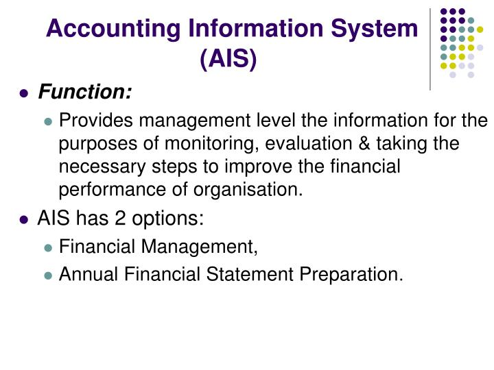 Accounting Information System (AIS)