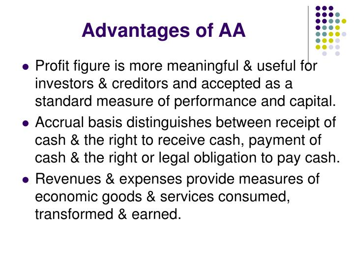 Advantages of AA