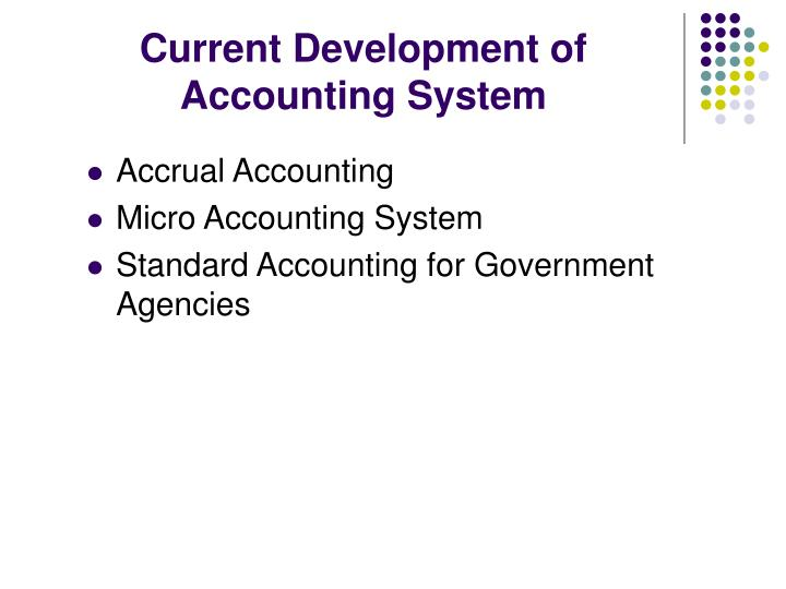 Current Development of Accounting System