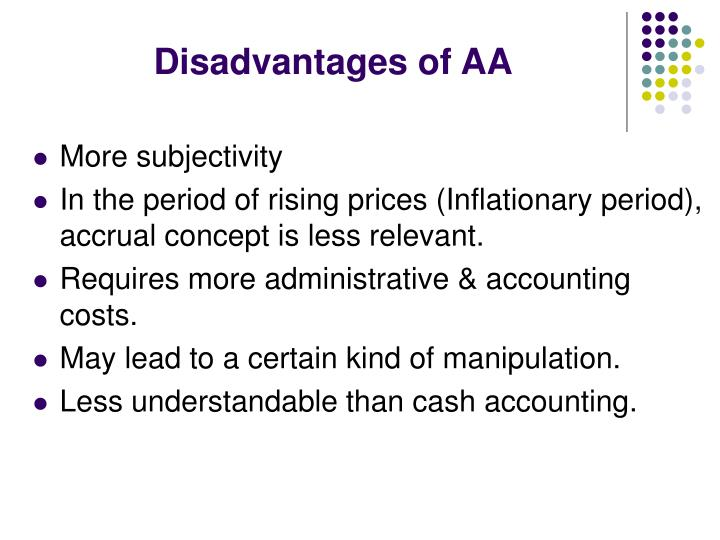 Disadvantages of AA
