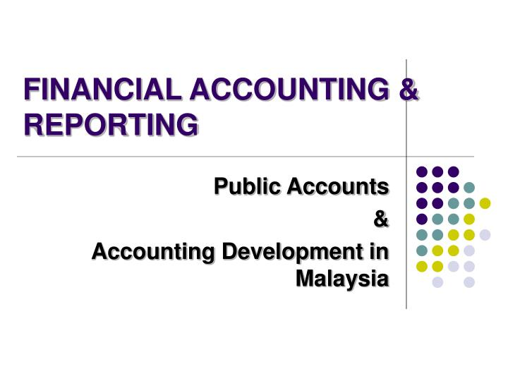 Financial accounting reporting