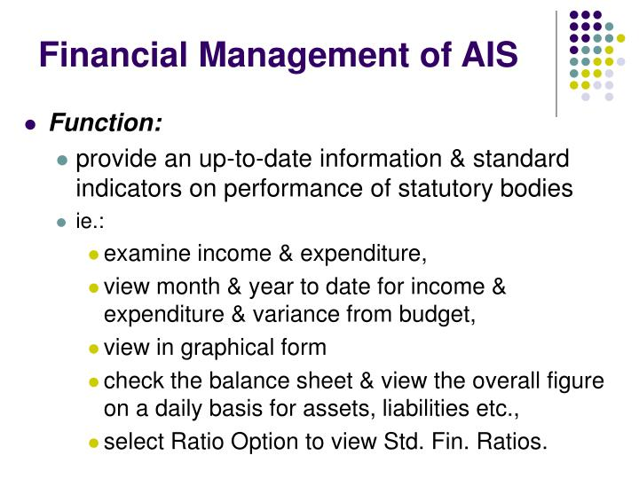 Financial Management of AIS