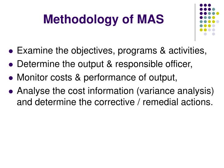 Methodology of MAS