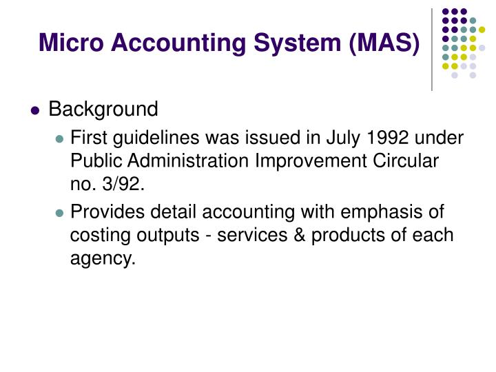 Micro Accounting System (MAS)