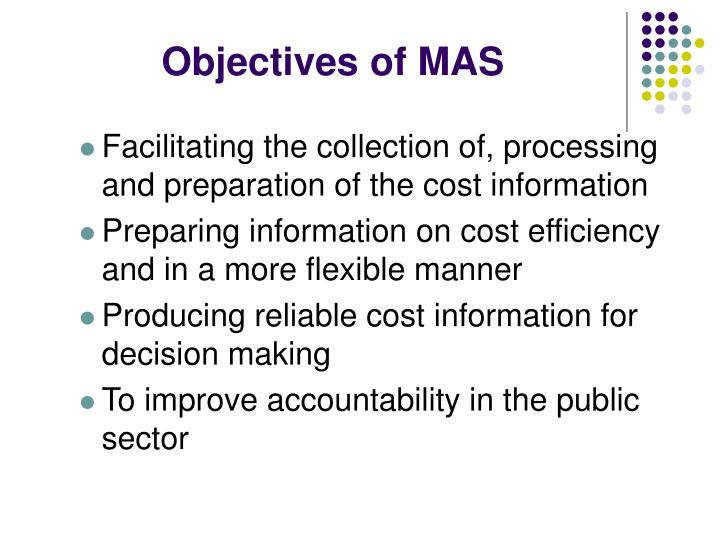 Objectives of MAS