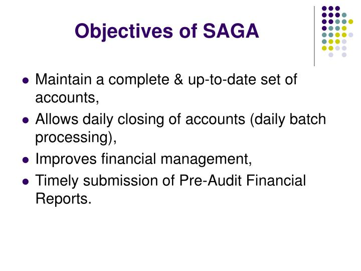 Objectives of SAGA