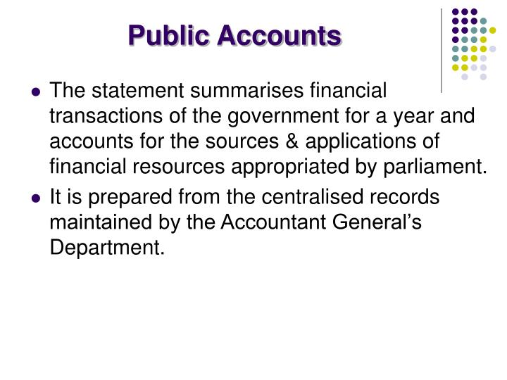 Public Accounts