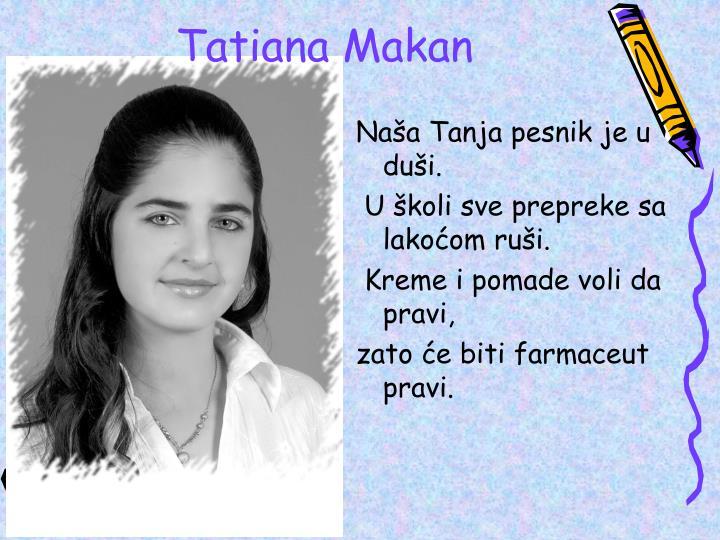 Naša Tanja pesnik je u duši