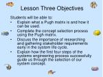 lesson three objectives1