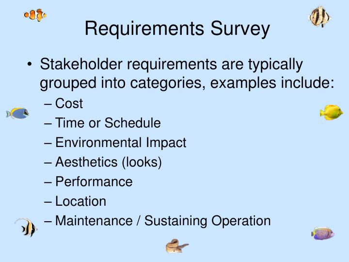 Requirements Survey