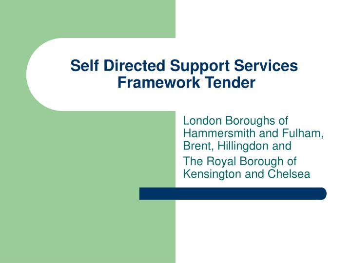 Self Directed Support Services