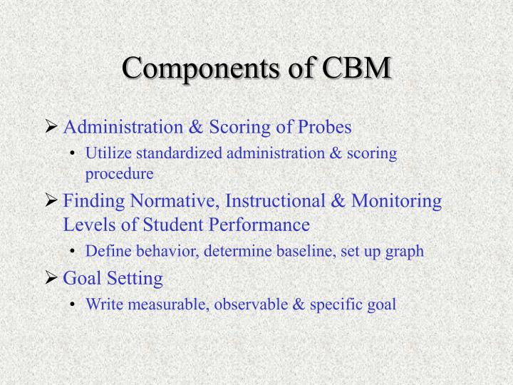Components of CBM