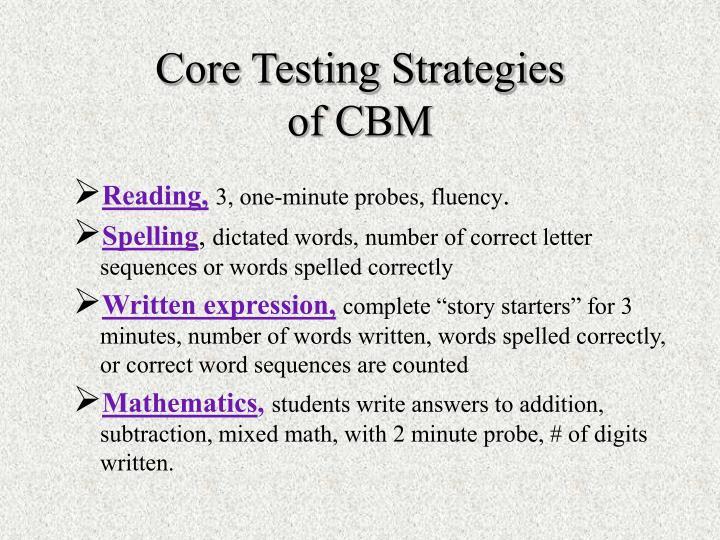 Core Testing Strategies