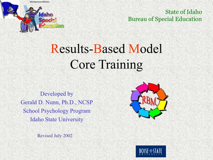 R esults b ased m odel core training